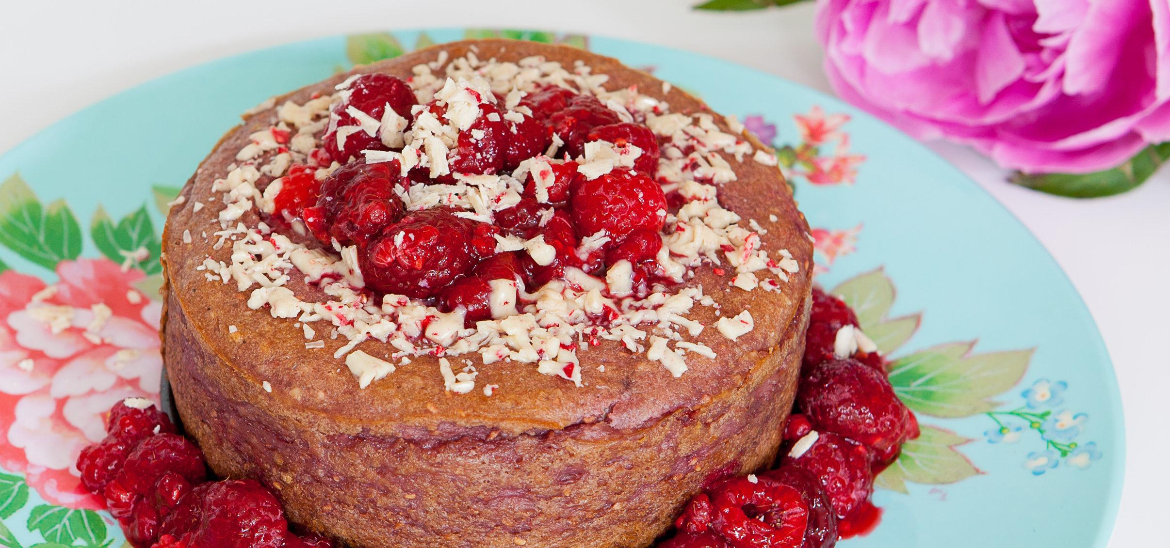 Cheesecake met frambozen