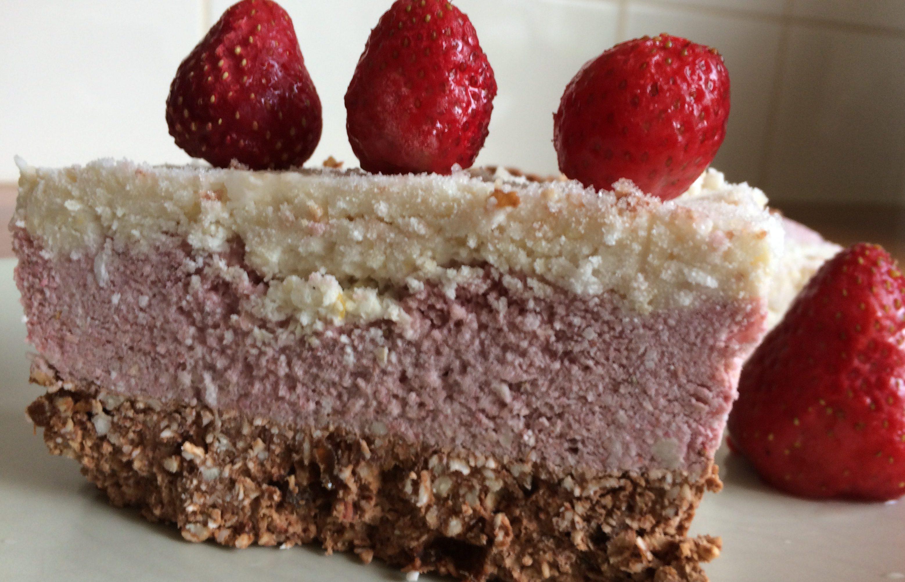 Aardbeien cakejes (raw&vegan)
